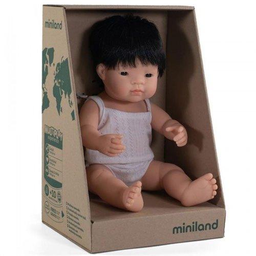 Miniland Babypop Jongen Aziatisch - 38 cm