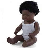 Babypop Jongen Donker - 38 cm