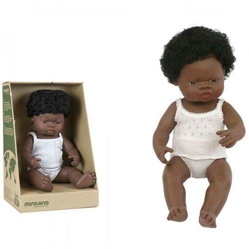 Miniland Babypop Meisje Donker - 38 cm