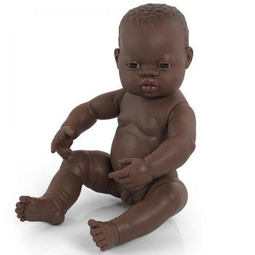 Miniland Babypop Jongen Donker - 40 cm