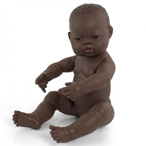 Miniland Babypop Meisje Donker - 40 cm