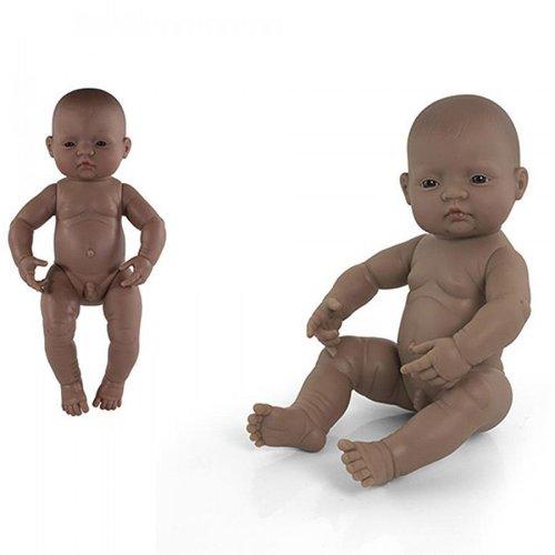 Miniland Babypop Jongen Getint - 40 cm