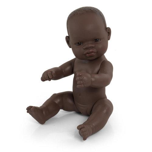 Miniland Babypop Meisje Donker - 32 cm