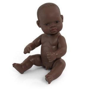 Miniland Babypop Jongen Donker - 32 cm