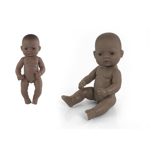 Miniland Babypop Jongen Getint - 32 cm
