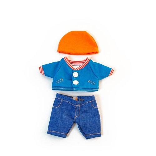 Miniland Poppen Kledingset Blauw  Jongen - 21 cm