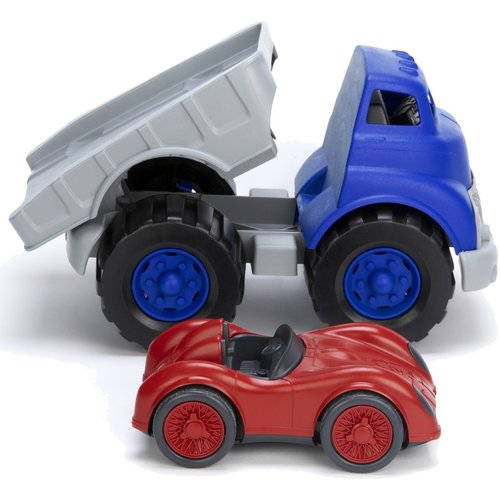 Green Toys Dieplader met Racewagen