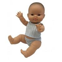 Gordi  Pop Jongen  Aziatisch Met Ondergoed - 34 cm