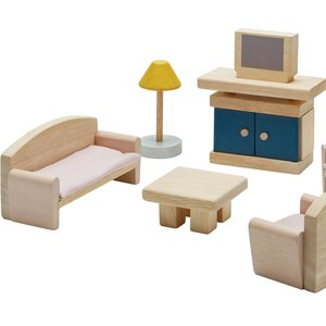 Plan Toys Poppenhuis Woonkamer Orchard