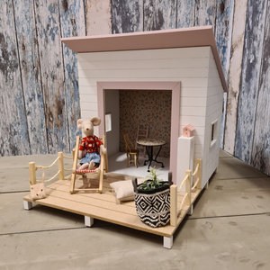 Project Dollhouse Strand Huisje Precious Pink