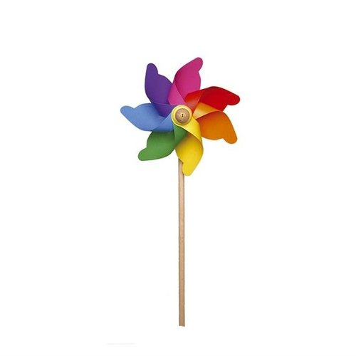 GIOBAS Regenboog Windmolen 58 cm