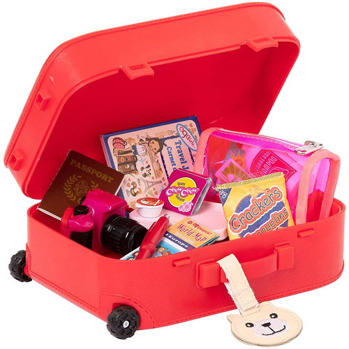 Our Generation Well Travelled Luggage Set Rood