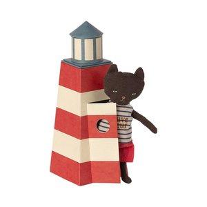 Maileg Strandwacht Kat met Vuurtoren