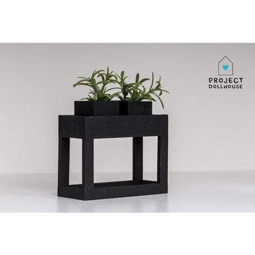Project Dollhouse Moderne plantentafel Zwart