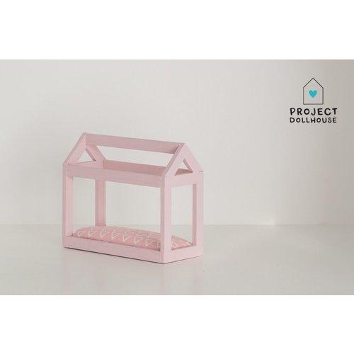 Project Dollhouse Bedhuisje Pastelroze
