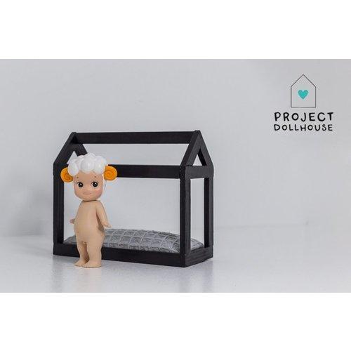 Project Dollhouse Bedhuisje Zwart
