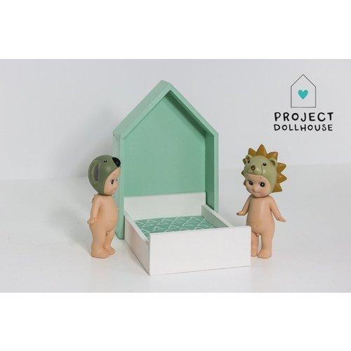 Project Dollhouse Huisjesbed Mintgroen
