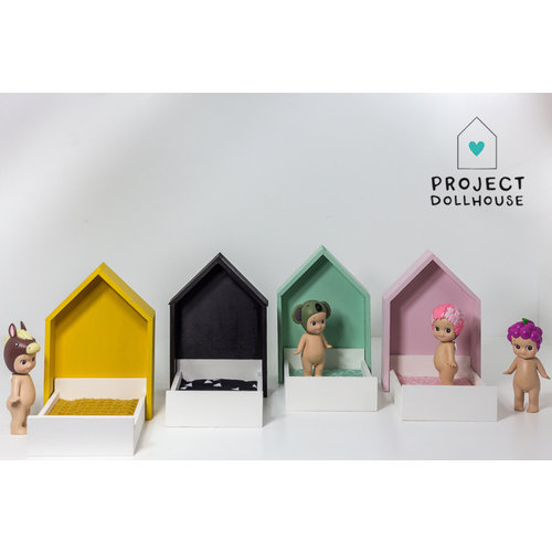 Project Dollhouse Huisjesbed Okergeel