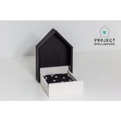 Project Dollhouse Huisjesbed Zwart