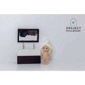 Project Dollhouse Badkamer Spiegel Zwart