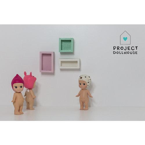 Project Dollhouse Set van 3 Wandkastjes