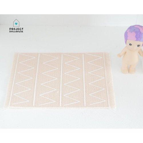 "Project Dollhouse Vloerkleed ""Print"" Roze"
