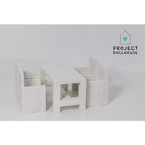Project Dollhouse Moderne eettafel met stoelen