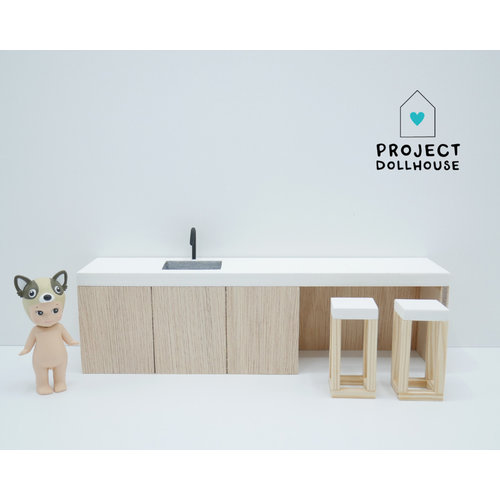 Project Dollhouse Keuken eiland 25 cm