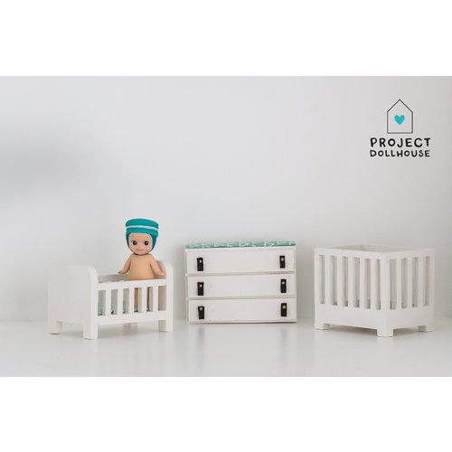 Project Dollhouse Babykamer compleet wit