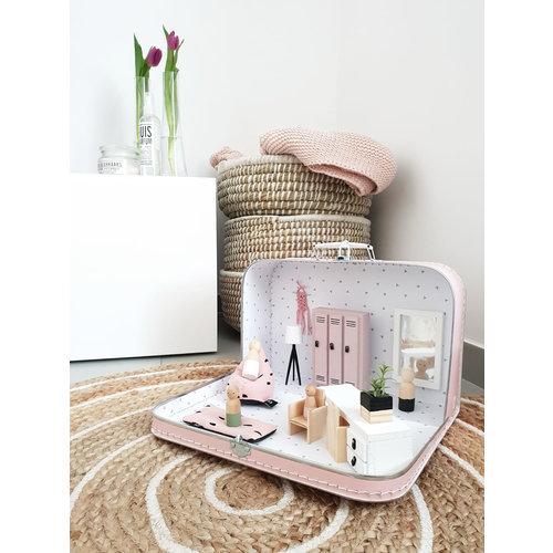 Project Dollhouse Poppenhuis Koffer Zacht Roze