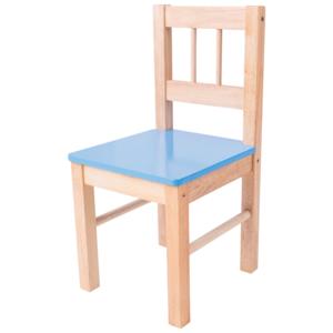 Bigjigs Houten Kinderstoel blauw