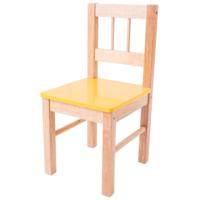 Houten Kinderstoel geel