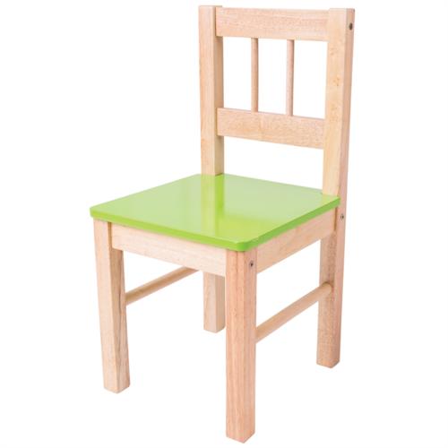 Bigjigs Houten Kinderstoel groen