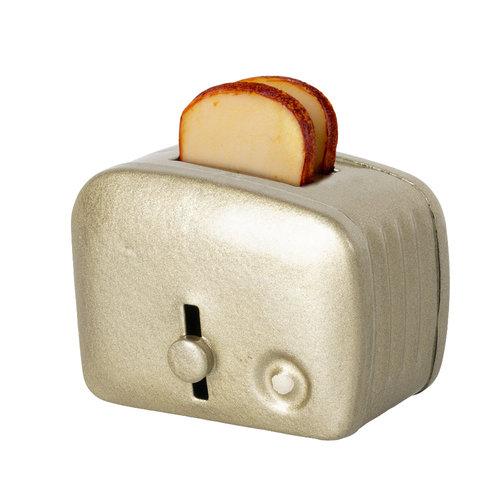 Maileg Broodrooster met Brood Zilver