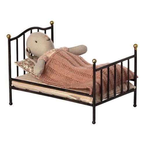 Maileg Vintage Bed Klein Antraciet