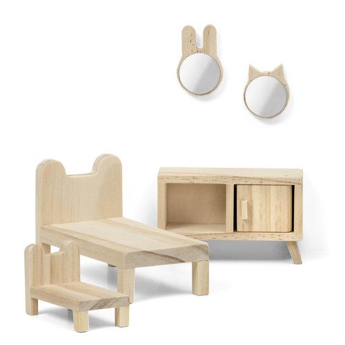 Lundby DIY Poppenhuis Slaapkamer