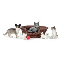 Poppenhuis Katten met Accessoires