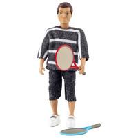 Poppenhuis Man met Tennisrackets
