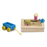 Poppenhuis Zandbak met Speelgoed