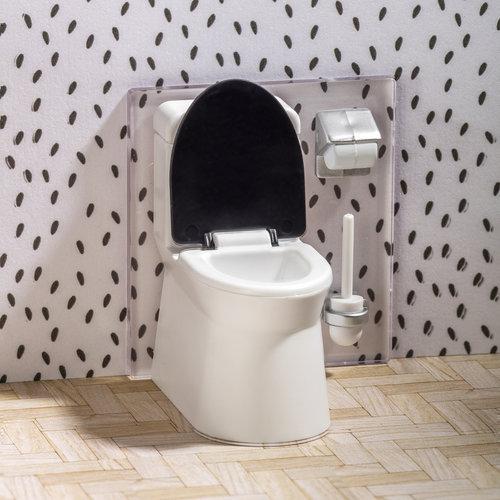 Lundby Poppenhuis Badkamer met Toilet