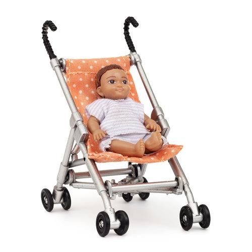 Lundby Poppenhuis Buggy met Baby