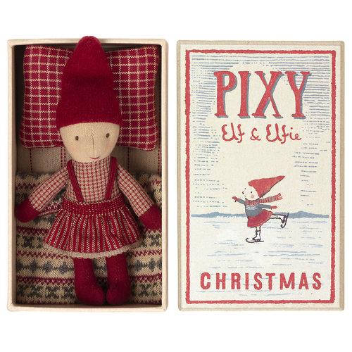 Maileg Pixy Kerst  Elfie  in Luciferdoosje