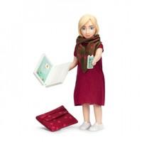 Poppenhuis Vrouw met Laptop en Rode Tas