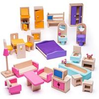 Poppenhuis meubeltjes compleet