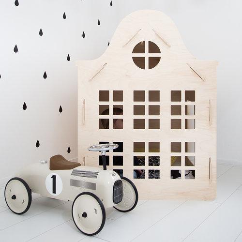 WoodenPlay Speelhuisje Klokgevel