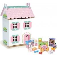Poppenhuis Sweetheart Cottage inclusief meubeltjes