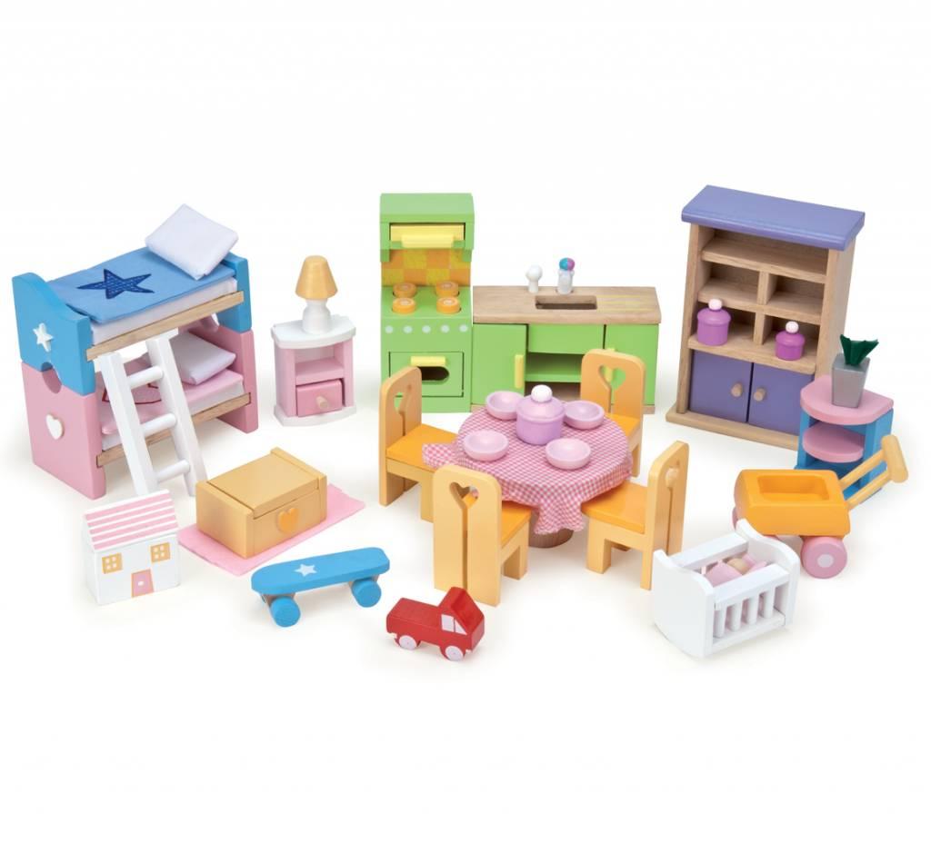 18139e9c191 Le Toy Van Poppenhuis Meubeltjes Starter Set   Bestel eenvoudig ...