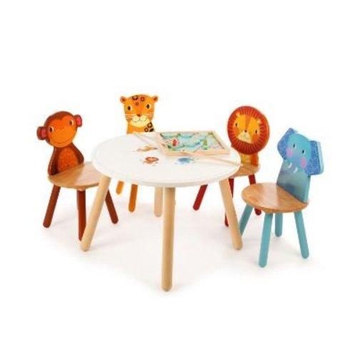 Tidlo Houten kindertafel Jungle