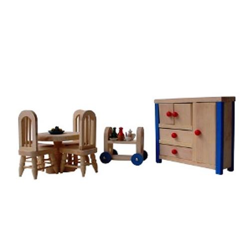 Charl's Design Toys Eetkamer met keukenwagentje