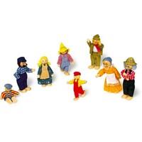 Poppenhuis poppetjes 'boerenfamilie'